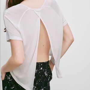 Talula Aritzia Chiba Open Back T-shirt Size L